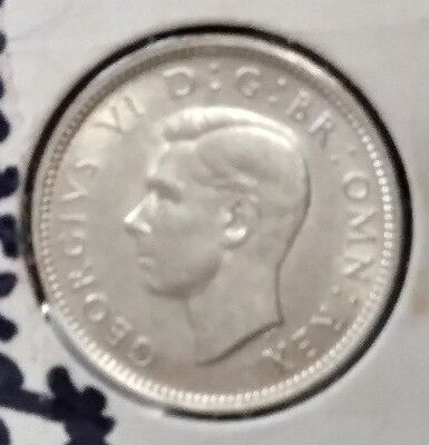 1942 George VI British Silver Six pence