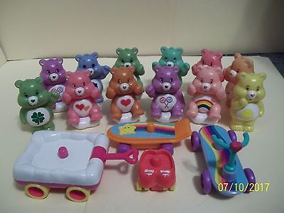 Vintage Care Bear Lot of 12 and Accessories