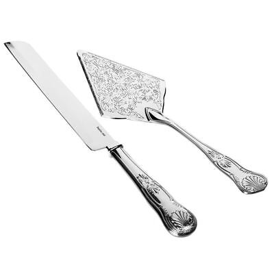Whitehill - Silver Plated EP Kings Cake Knife and Server Set