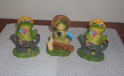 NEW  Cute Frog and Turtle  Figurines  Set of 3  Must See