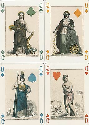 ROYALTY - COURTS - 4  single vintage playing cards