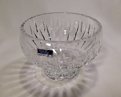 "Signed & Labeled Waterford Marquis Sheridan Rose Bowl Vase 6""w 4-1/4""t Near Mint"