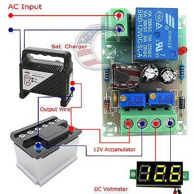 12V Charger Charging Control Module Lithium / Lead Battery Protection Board