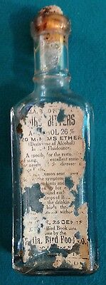 Philadelphia Bird Food Co, Bird Bitters, 50+ years old glass jar, Medicine