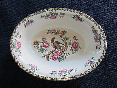"""Antique F Winkle Co Semi-Porcelain China Whieldon Ware 10"""" Oval Serving Bowl"""
