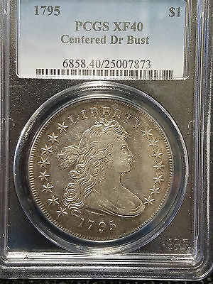 1795 Centered Draped Bust Dollar PCGS XF 40