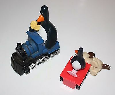 WALLACE & GROMIT Feathers McGraw Carls Jr Toy Shampoo Bottle Topper Promo Pengui