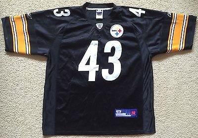 Mens Size 48 Pittsburgh Steelers Troy Polamalu #43 NFL Jersey Made in Korea