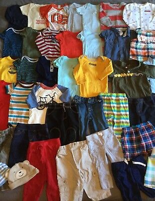Great Baby Boy Clothes Lot 6-9 Months 6-12 Months 40 Pieces