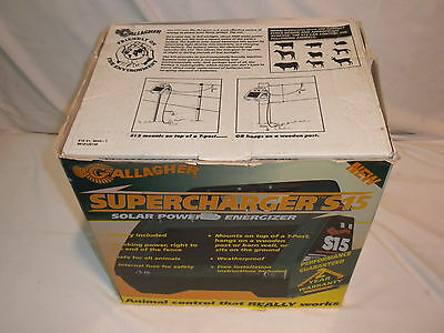 Gallagher S15 Solar Powered Electric Fence Energizer