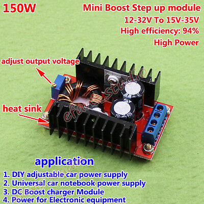 DC-DC Step Up Power Supply Boost Module 150W 8-16V Charger Converter DIY B28