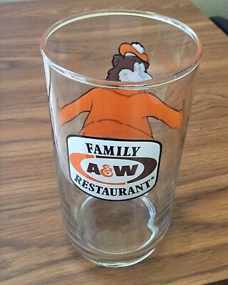 VINTAGE A&W Glass A& W FAMILY RESTAURANT EXCELLENT SHAPE WITH NO CRACKS IN GLASS