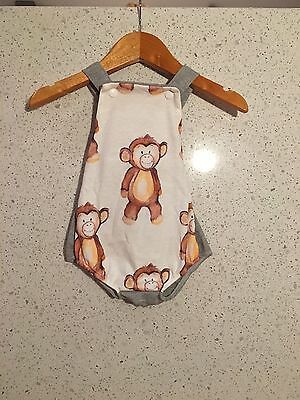 Baby Girls Jumpsuit - Cheeky Chickadee - size 3-6 months