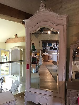 french antique armoire wardrobe shabby chic mirrored stunning ornate