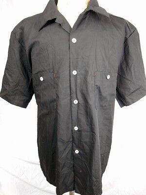 Route 66 Black Cotton Rockabilly Hot Rod Kustom Craft Short Sleeve Shirt XXL