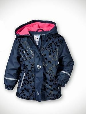 Lupilu waterpoof girls jacket Navy/Hearts 12-24 Months 86/92 cm New With Tags
