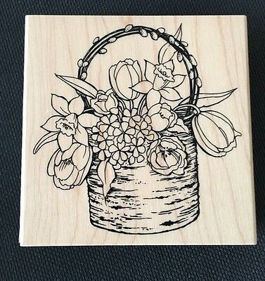 Stampendous - BIRCH BOUQUET-  Wood Mounted Rubber Stamp - New