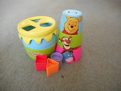 Winnie the pooh shape sorter/stacking cups toy