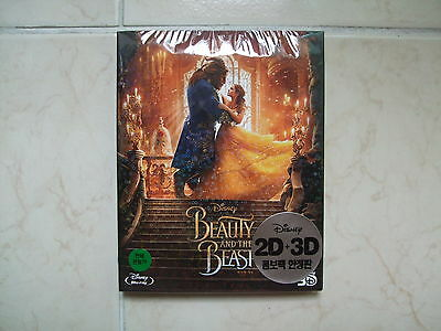 Beauty And The Beast (2017, Blu-ray) 2D & 3D Combo Slip Case Edition