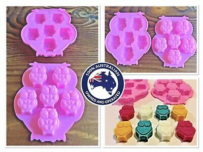 """~x1 SILICONE """"OWL"""" TRAY MOULD (for MINI SOY WAX TART & MELT MAKING)"""