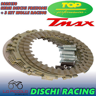 Dischi Frizione Top Performance Racing + 3 Kit Molle Yamaha T-Max 500 Tmax 2006