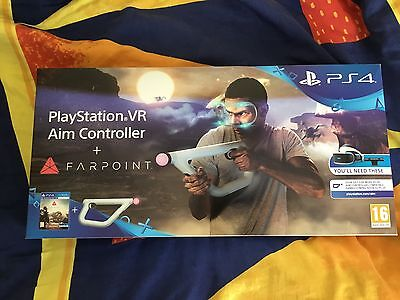 playstation 4 vr aim controller and farpoint game for sony. Black Bedroom Furniture Sets. Home Design Ideas