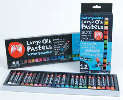 Micador Water Soluble Colour Oil Pastels Large - 12 Pack