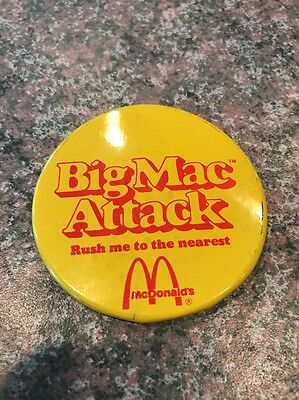 Vintage McDonalds Button, Big Mac Attack