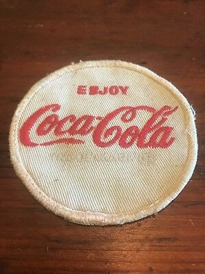 "Vintage Coca Cola Patch, 3"" Diameter"