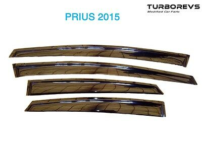 Front Rear 4Pcs Wind Rain Tinted Deflectors Window Sheild For Toyota Prius Tp05