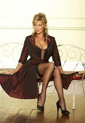w3 Claire King in stockings #9 12x8inch approx A4 glossy photo