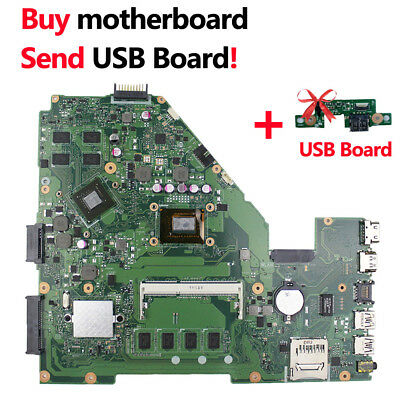 For Asus X550CC Motherboard 4GB With i7-4500U GT820 Rev2.0 Mainboard R510CC Test