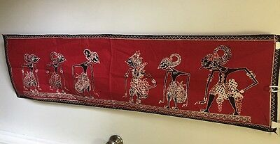Vintage Indonesia Natives Pattern Batik Fabric/Textile Art table runner MAWAR WS