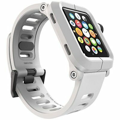 Apple Watch Series 1 42mm Shockproof Armor Rugged Case Silicone Strap White NEW
