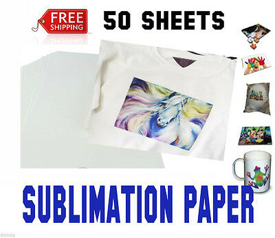 Sublimation Paper Heat Transfer Paper Inkjet Printer 50 Sheets A4 8x11