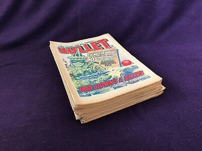 """25 """" BULLET"""" COMIC UK Comics from 1976 All Intact VG cond Complete Run 16-40"""