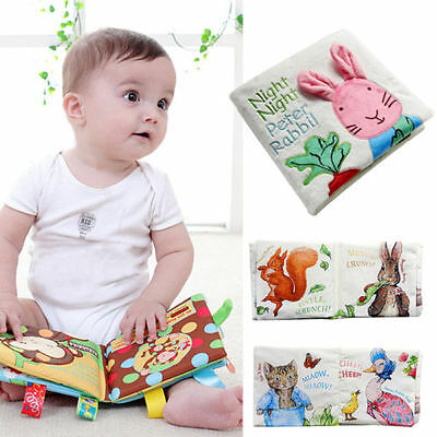 Cartoon Vertical Cloth Books Baby Educational Puzzle Sound Uttering Pages Cloth
