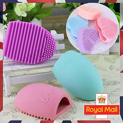 Brush Egg Make Up Brush Cleaning Tool Heart Shaped Silicone Cosmetic Glove