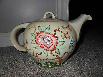 Art Deco Wood & Son's Chinese Rose Teapot EUC