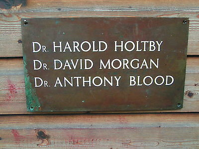 vintage sign doctors surgery name plate