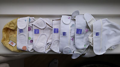 7 x Bambino Mio reusable nappy covers - different sizes - USED