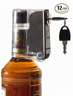 12 Wine Liquor Alcohol Bottle Lock Keeps Out Wrong Hands, Easily Fastens & Lock