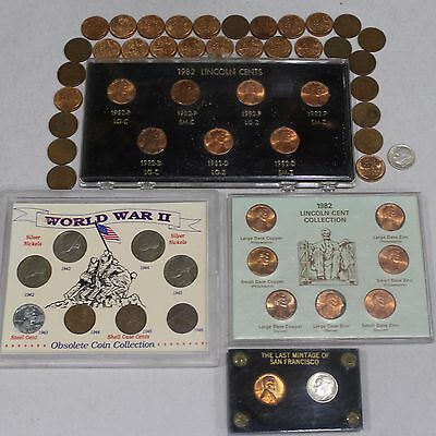 Beginners Coin Collection Sets and Some Loose Collectible Pennies Of The 50s  NR