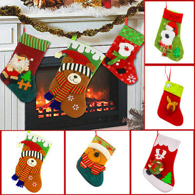 Cool Cartoon Christmas Stocking Gift Pouch Bags Wedding Party Xmas Favors Decor