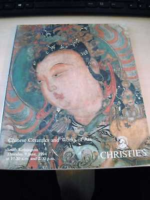 Christie's: Chinese Ceramics and Works of Art, June 1994 Antiques Asia PB