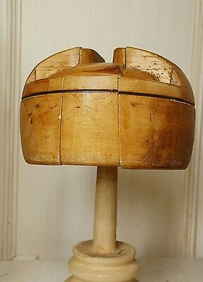 Holz Hutform Militärhut Vintage MILLINERY Wooden Hat Block Military Making Form