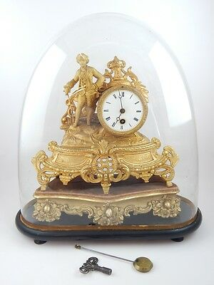 Stunning 19Th Century French Gilt Mantle Clock