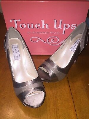 Size 8 Grey Formal Heels - Touch Ups - By Benjamin Walk