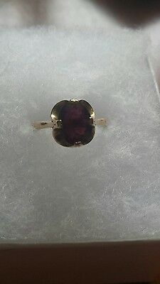 Vintage/ Antique 1920's  9ct Gold Garnet  Ring   Size L    UK HALLMARK