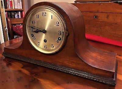 Large Art Deco Mantel Clock In Working Condition